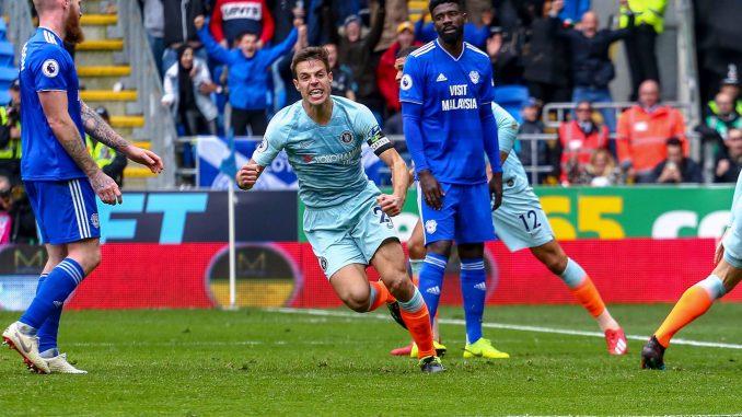 Azpilicueta equalises in controversial fashion against Cardiff