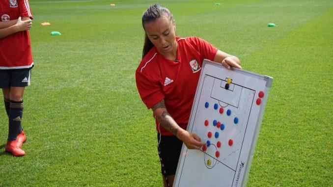 Natasha Harding at FAW Trust UEFA B coaching course at Newport, South Wales