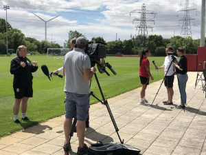 Media attending all FAW Trust all female UEFA B coaching license course at Newport, South Wales