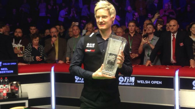 Neil Robertson progressed through to the second round