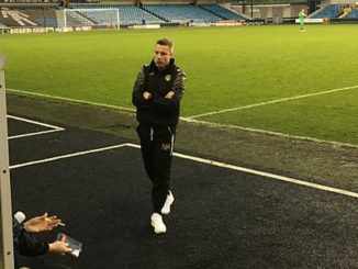 Neil Harris in the dugout at Milwall. Image: BillyBatty